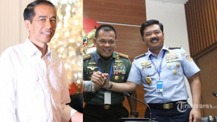 Jokowi, Gatot Nurmantyo, dan Marsekal Hadi Tjahjanto