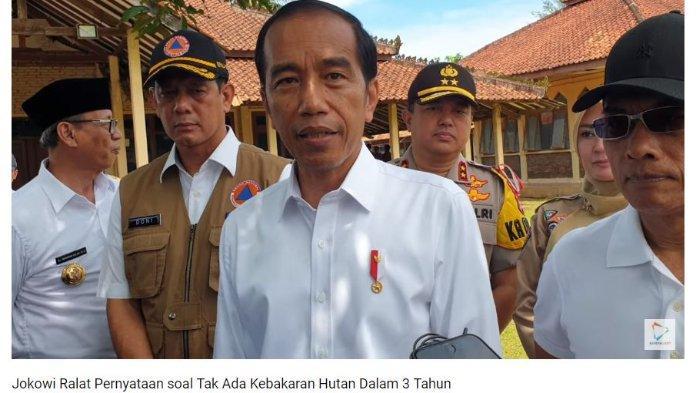 Jokowi Ralat Pernyataan saat Debat Pilpres soal Kebakaran Hutan: Bukan Tidak Ada tapi Berkurang