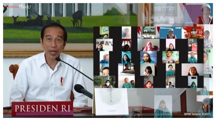 Ditanya Anak-anak SD soal Tugas Kepala Negara, Presiden Jokowi Tertawa dan Beri Jawaban Begini