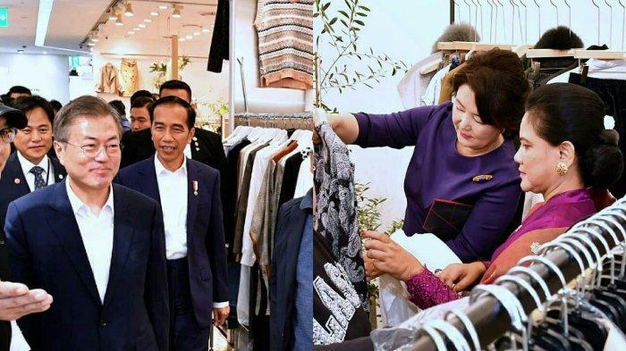 Reaksi Presiden Korea Selatan saat Ajudan Jokowi akan Membayar Semua Belanjaan