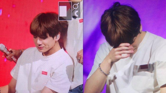 Jungkook BTS menangis saat konser di London, Inggris karena alami cedera yang membuat penampilannya tak maksimal.