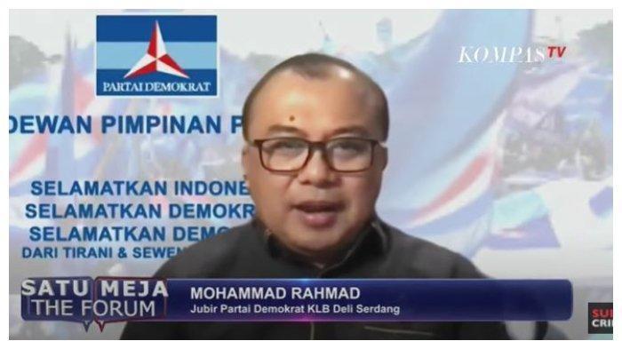 Juru Bicara Partai Demokrat KLB Deliserang, Mohammad Rahmad mengungkapkan alasan bukan Marzuki Alie yang dipilih sebagai ketua umumnya, dalam acara SATU MEJA THE FORUM, Kamis (11/3/2021).
