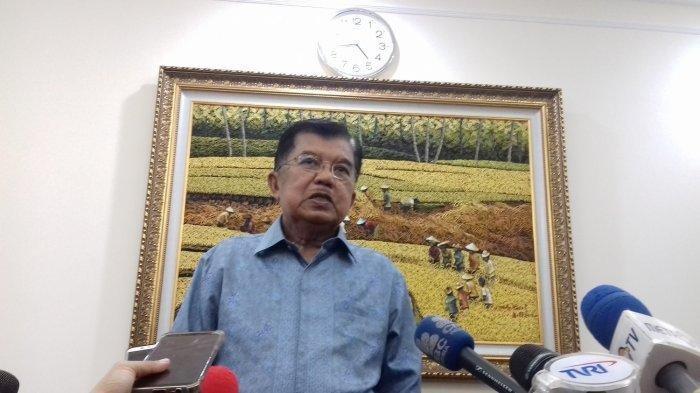Wakil Presiden Jusuf Kalla di kantor Wapres, Jalan Medan Merdeka Utara, Jalan Medan Merdeka Utara, Jakarta Pusat, Selasa (12/2/2019).