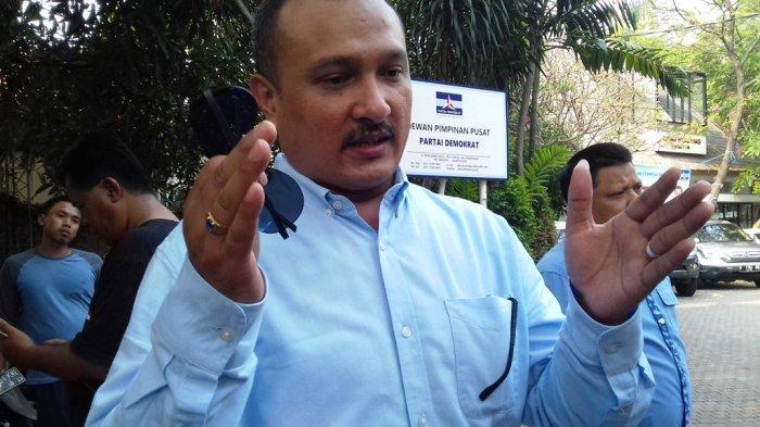 Kadiv Advokasi dan Bantuan Hukum Partai Demokrat Ferdinand Hutahaean saat ditemui di Kantor DPP Partai Demokrat di Jalan Proklamasi, Jakarta Pusat, Jumat (14/9/2018).