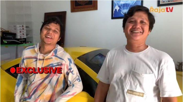 Kakak Rizky Billar, Bobby Rahman (kiri) dan Benny Sikumbang saat diwawancarai, Rabu (14/7/2021). Benny dan Bobby menuturkan soal penundaan waktu pernikahan Rizky Billar dengan Lesti Kejora.