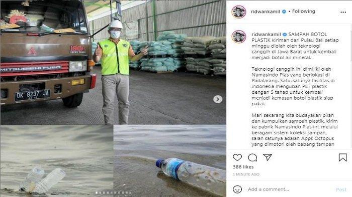 Unggahan Instagram/@ridwankamil, Rabu (21/4/2021). Gubernur Jawa Barat Ridwan Kamil memamerkan soal pabrik pengolahan sampah canggih di Jawa Barat.