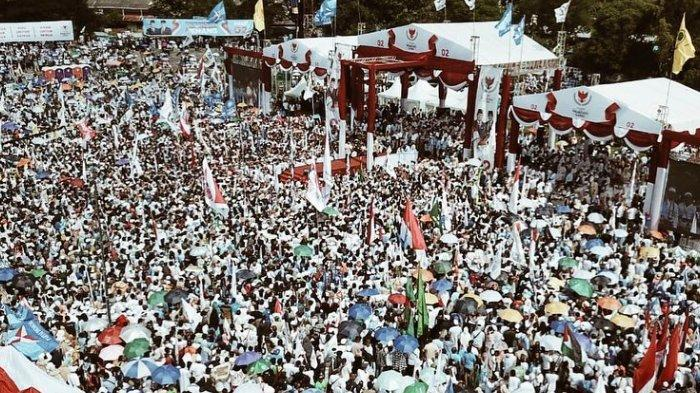 Suasana Kampanye Prabowo-Sandi di Solo, Rabu (10/4/2019).