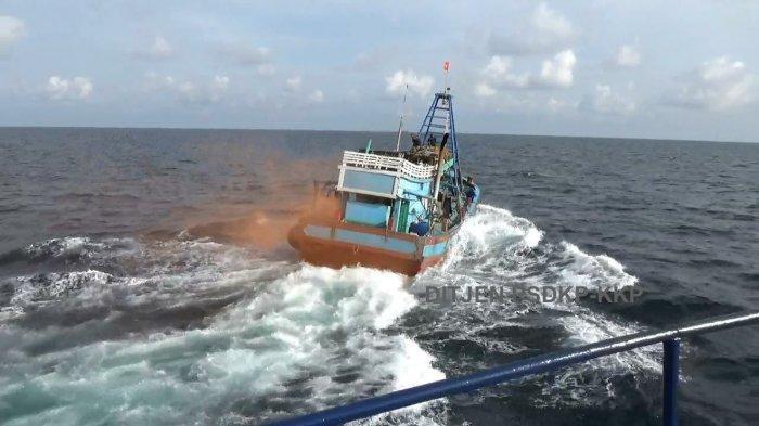 Kapal berbendera Vietnam ditangkap karena mengapung di ZEE.