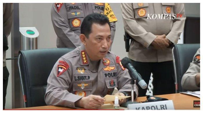 Kapolri Listyo Sigit Prabowo saat konferensi pers penyerangan Mabes Polri oleh teroris berinisial ZA, Rabu (31/3/2021).