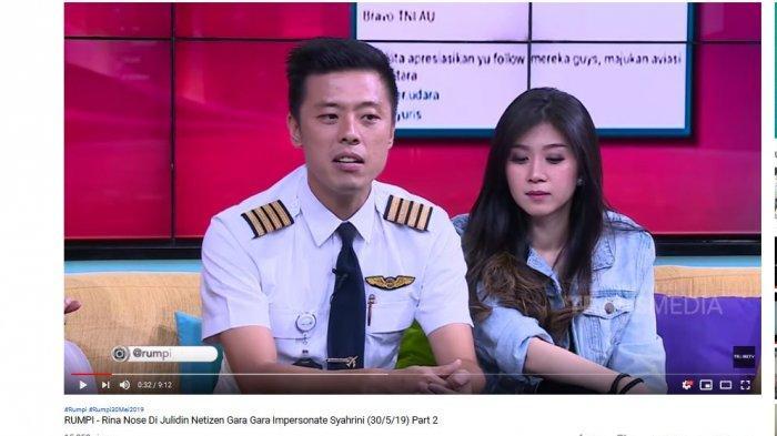 Kapten Vincent Raditya saat diundang dalam program 'Rumpi' Trans TV.