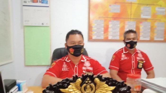 Kasat Rekrim Polres Mamasa, Iptu Dedi Yulianto saat membeberkan kronologi pencabulan tiga anak di bawah umur oleh seorang pria di Kecamatan Messawa, Kabupatan Mamasa, Sulawesi Barat,