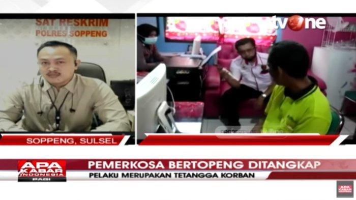 Kasat Reskrim Polres Soppeng AKP Amri menerangkan kasus pemerkosaan oleh pria berinisial AA di Sulawesi Selatan, Jumat (23/10/2020).