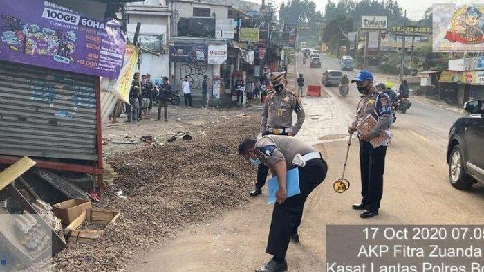 Detik-detik Kecelakaan Beruntun di Puncak Bogor, Truk Baru Berhenti Pasca-tabrak Kios, 5 Orang Tewas