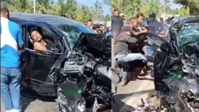 Viral Video Kecelakaan Maut di Banda Aceh: Warga Ramai Berusaha Buka Pintu Mobil yang Ringsek