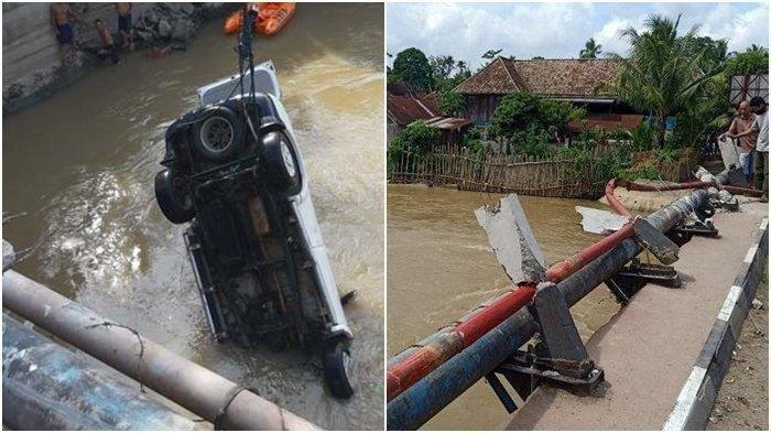 Detik-detik Kecelakaan Maut Pajero Tabrak Jembatan Lalu Terjun ke Sungai di OKI, 4 Orang Tewas