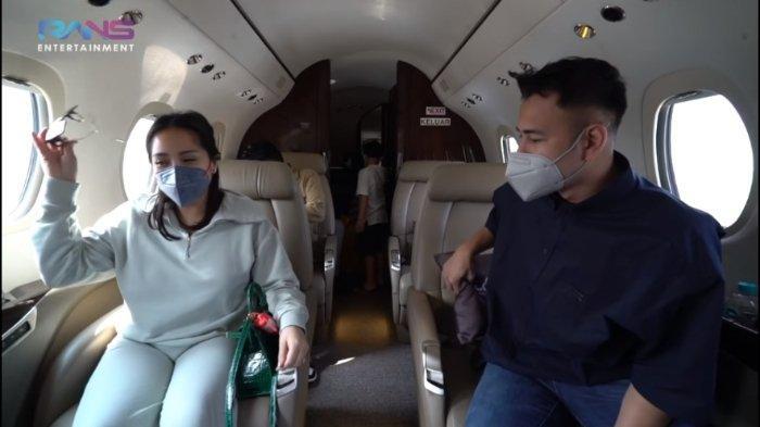 Tangkapan layar Keluarga Raffi Ahmad pergi ke Malang, Jawa Timur dengan naik jet pribadi, Selasa (18/5/2021).