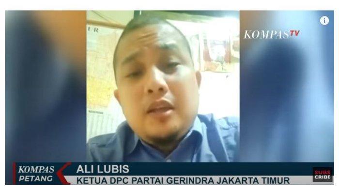 Ketua DPC Partai Gerindra Jakarta Timur, Ali Lubis memberikan kritik pedas kepada Gubernur DKI Jakarta Anies Baswedan, bahkan meminta untuk mundur dari jabatannya.
