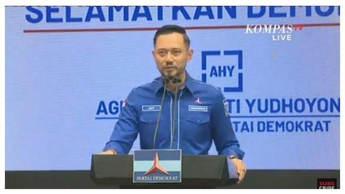 Ketua Umum Partai Demokrat Agus Harimurti Yudhoyono (AHY) memberikan respons terkait digelarnya kongres luar biasa (KLB) di Sibolangit, Sumut.