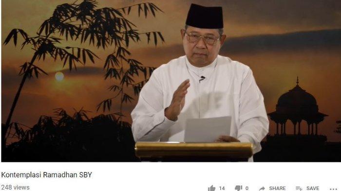 Ketua Umum Partai Demokrat Susilo Bambang Yudhoyono (SBY) menyampaikan kontemplasi ramadan melalui unggahan video yang dibagikan di saluran YouTube Demokrat TV, Senin (27/5/2019) malam.