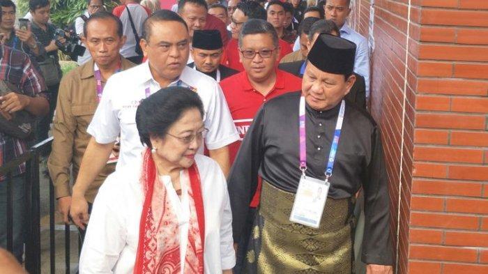 Ketua Umum Partai Gerindra Prabowo Subianto dan Ketua Umum PDIP Megawati Soekarnoputeri, Jakarta, Rabu (28/8/2018).