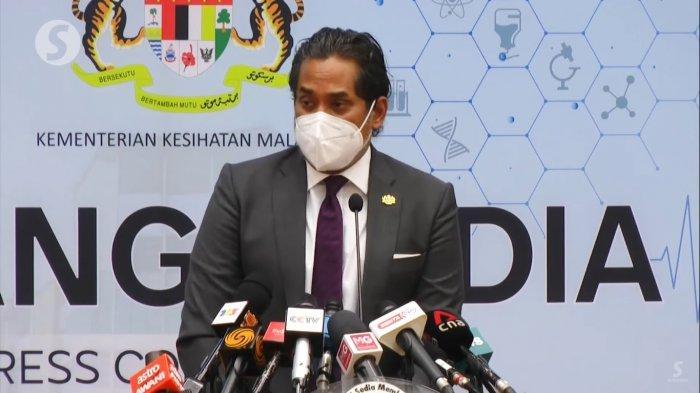 Menteri Kesehatan Malaysia, Khairy Jamaluddin dalam konferensi pers pada Rabu (1/9/2021).