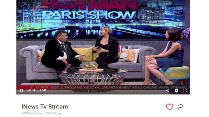 Kimmy Jayanti saat menjadi bintang tamu Hotman Paris Show