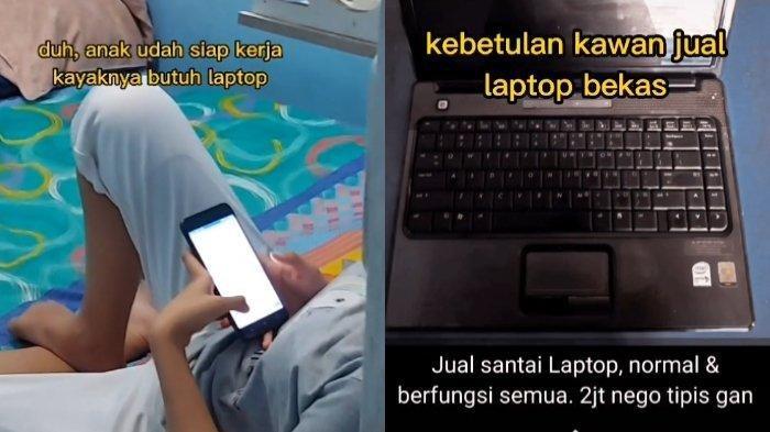 Fakta Viral Driver Ojol Belikan Laptop Bekas Buat Anaknya, Buka Celengan dan Tunggu di Balik Pintu