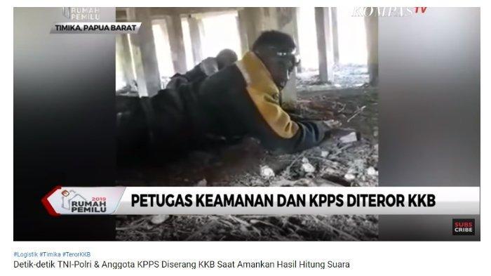 Video Detik-detik TNI-Polri dan Anggota KPPS Ditembaki KKB Papua saat Kawal Hasil Hitung Suara