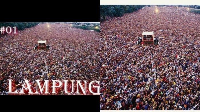 Viral di Facebook Foto Kampanye Jokowi di Lampung bak Lautan Manusia, Ini Faktanya