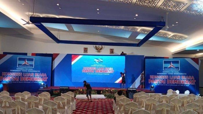 Foto yang beredar di Medsos terkait adanya KLB Partai Demokrat di The Hill Hotel and Resort Sibolangit.