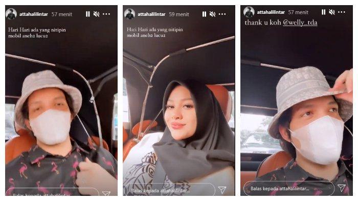 Kolase Atta Halilintar dan Aurel Hermansyah pamer naik mobil klasik mewah, Rabu (5/5/2021).