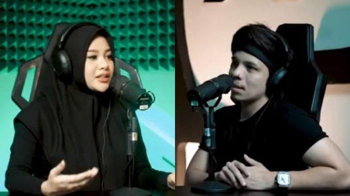 Kolase Aurel Hermansyah (kiri) dan Atta Halilintar, Sabtu (21/8/2021).