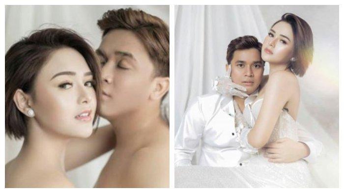 Kolase foto presenter Billy Syahputra dan kekasihnya, artis Amanda Manopo, Kamis (14/11/2020).
