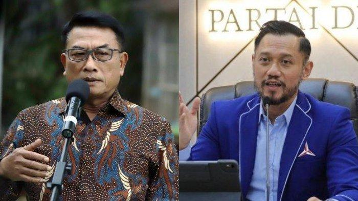 Kolase foto Moeldoko dan Agus Harimurti Yudhoyono.