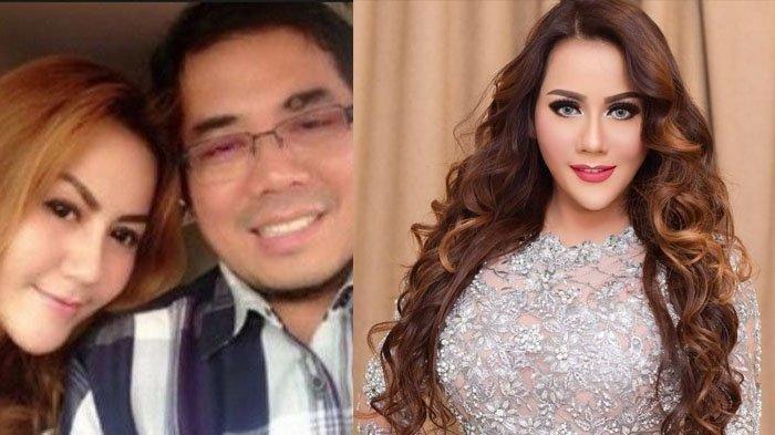 Kolase foto Nita Thalia dan suaminya.