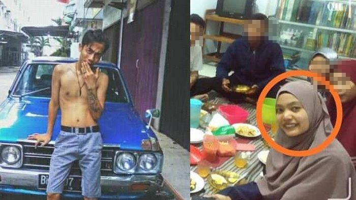 Kolase foto pelaku pembunuhan Ryan Afrishak dan korban Yuliza. Ryan Afrishak (18) dan Syahrul Bariah (19) ditetapkan sebagai pembunuh mahasiswi Yuliza (17). Terungkap Ryan adalah mantan pacar korban.