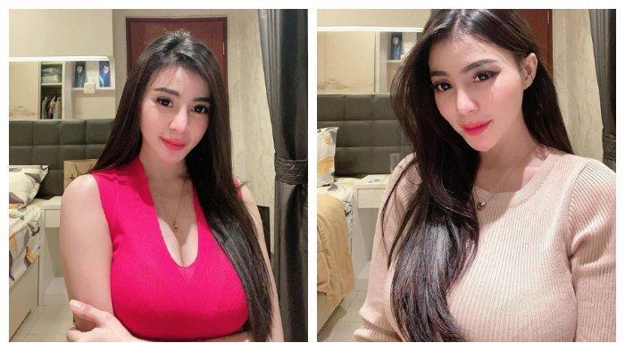 Kolase foto Tisya Erni, model seksi yang dikaitkan dengan isu keretakan rumah tangga Sule dan Nathalie Holscher.