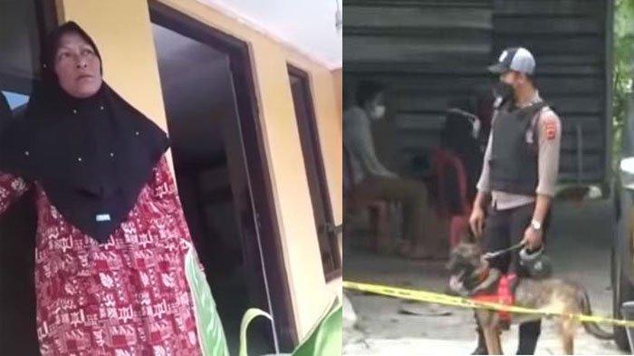 Kolase tangkapan layar sosok Mimin (istri muda Yosef) dan TKP pembunuhan ibu dan anak di Subang.