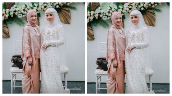 Kolase foto Nissa Sabyan hadir di pernikahan, Selasa (6/4/2021).