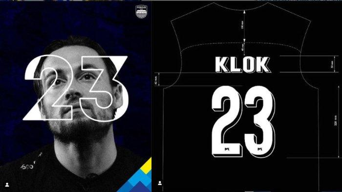 Postingan Instagram Persib Bandung (kiri) dan Marc Klok (kanan). Marc Klok dikabarkan resmi kenakan nomor punggung 23 di Persib Bandung.