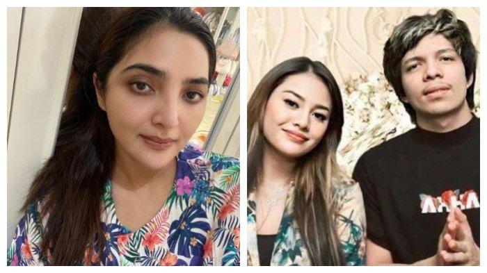 Kolase potret Ashanty serta pasangan Aurel Hermansyah dan Atta Halilintar, Jumat (12/3/2021).