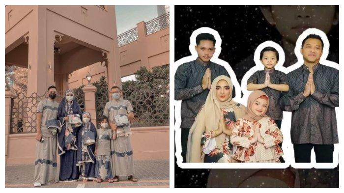 Kolase potret keluarga Anang Hermansyah dan Ashanty saat rayakan lebaran, Rabu (13/5/2021).