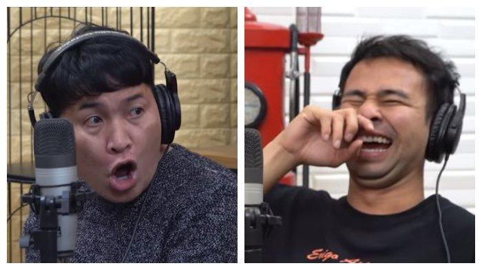 Kolase potret Merry dan Raffi Ahmad saat podcast, Jumat (5/3/2021). Merry dan Raffi Ahmad nego alot masalah kenaikan gaji asisten.