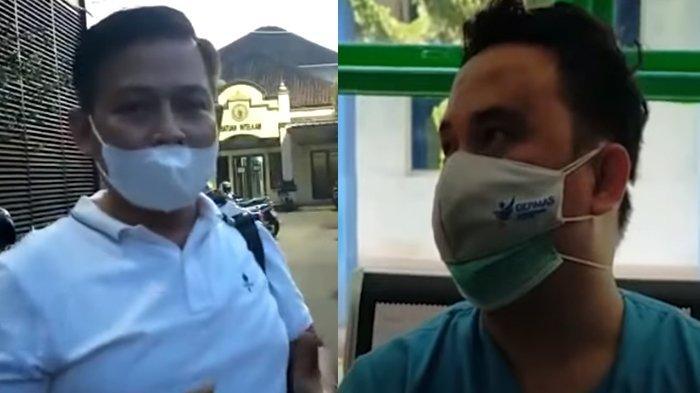 Kolase terduga pelaku dan korban dalam video viral penganiayaan perawat, Awang Helmi (kiri) dan Rendy Kurniawan/Perawat (kanan).