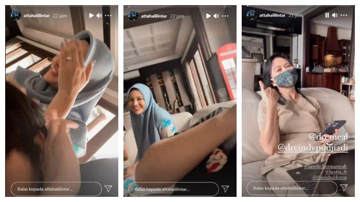 Kolase unggahan Atta Halilintar saat bersama Aurel Hermansyah, Selasa (8/6/2021). Atta mengaku mendapat penyiksaan dari Aurel.