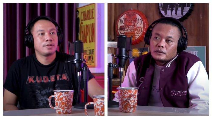 Kolase foto Vicky Prasetyo dan Sule yang sedang membahas Kalina Ocktaranny