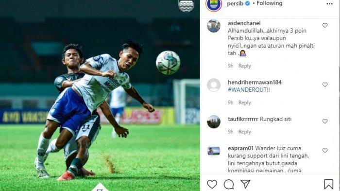 Komentar kocak Bobotoh untuk hasil imbang Persib Bandung.