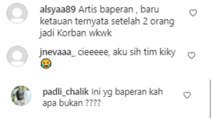 Tangkapan layar komentar warganet di Instagram Sule