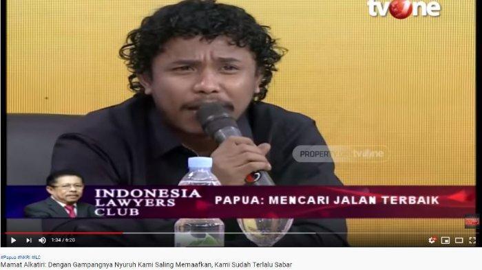 Hadir di ILC, Komika Asal Papua Mamat Alkatiri Berikan Saran pada Jokowi: Selama Ini Kan Abu-abu