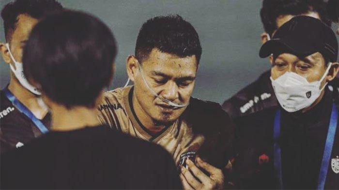 Kondisi Terkini Kiper Bali United Wawan Hendrawan yang Tersungkur setelah Laga Kontra Persib Bandung
